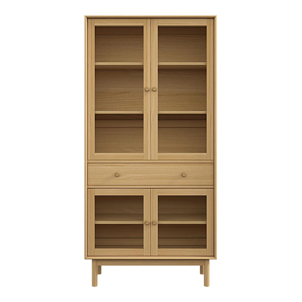 Vitrina en madera con 4 puertas