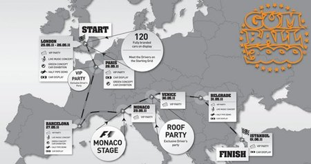 Gumball 3000 2011 route