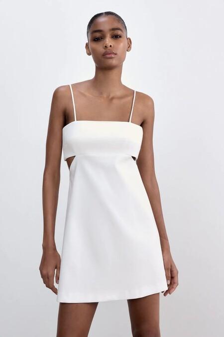 Vestido Blanco De Zara 8