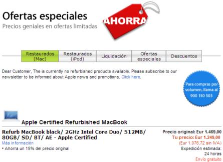 """Apple lanza """"Ofertas Especiales"""" (tienda refurbished) para España"""