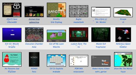 Quedan pocas horas para que acabe el Ludum Dare 25 y ya cuenta con casi 1.000 juegos