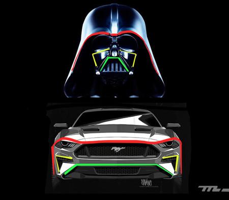 Ford Mustang y Darth Vader