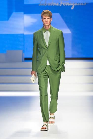Salvatore Ferragamo Green Suit