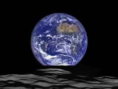 Así de espectacular luce la Tierra desde el horizonte lunar