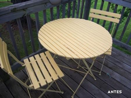 Antes y después: renovando mesa y sillas de estilo bistro