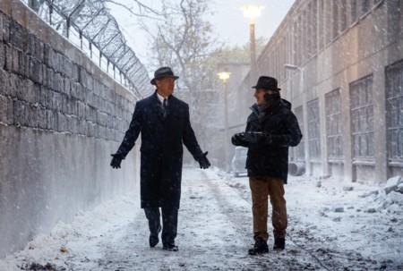Spielberg y Hanks durante el rodaje