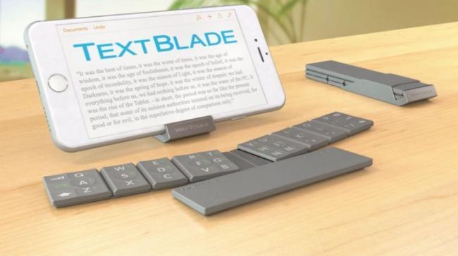 TextBlade, un teclado físico muy pequeño e ingenioso