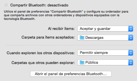 Compartir Bluetooth