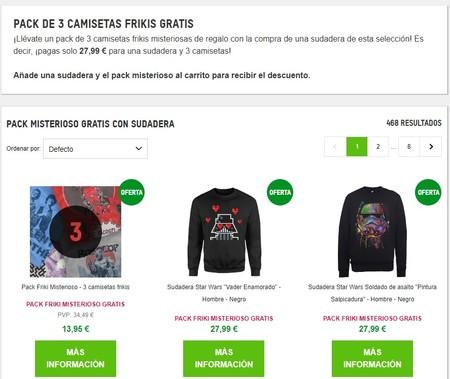 Pack de tres camisetas frikis gratis por la compra de una sudadera en Zavvi