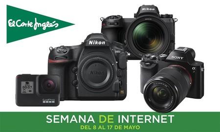 Ofertas en fotografía en la Semana de Internet de El Corte Inglés: hasta un 49% de descuento, envíos gratis y recogidas Click&Collect&Car en Sony, Nikon o GoPro