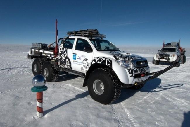 Toyota Hilux en el Polo Sur