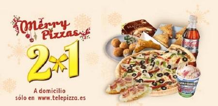 2x1 en Telepizza por Navidad y oferta especial hoy 12/12/12