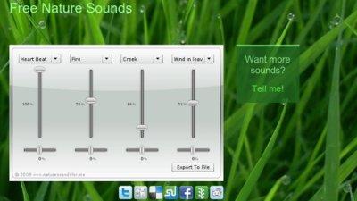 Combina sonidos naturales y llévatelos con Free Nature Sounds