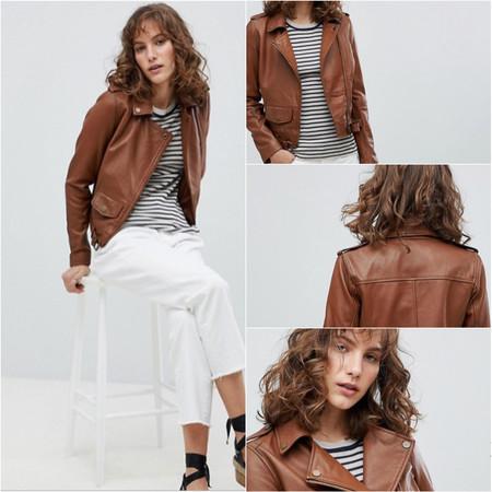 Esta chaqueta de cuero estilo Biker tiene un 80% de descuento en ASOS y envío gratis