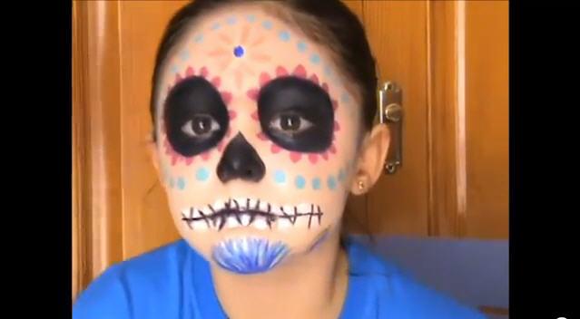 Tutorial de maquillaje para halloween c mo pintar una - Pinturas de cara para ninos ...
