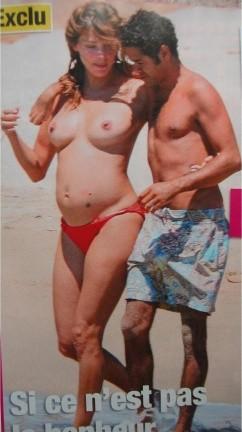 Melissa Theuriau en topless y embarazada
