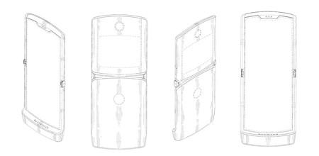 Motorola Razr Plegable Patente Diseno