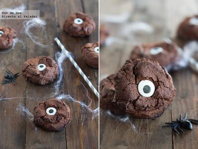 Galletas ojo de monstruo. Receta de Halloween