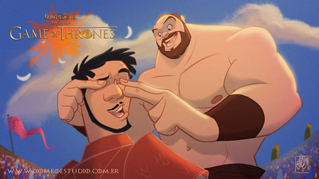 Game Of Thrones Disney Style Illustration Combo Estudio 9 5aafaa974712b 880