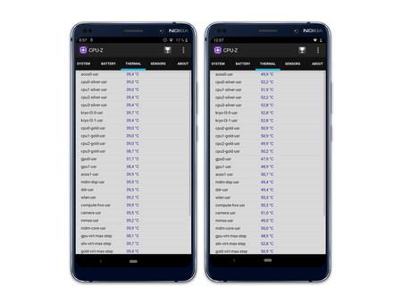 Nokia 9 Pureview Temperaturas
