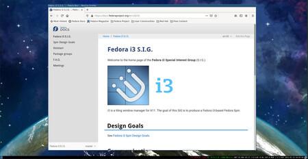 Fedora 34 I3 Screenshot I3