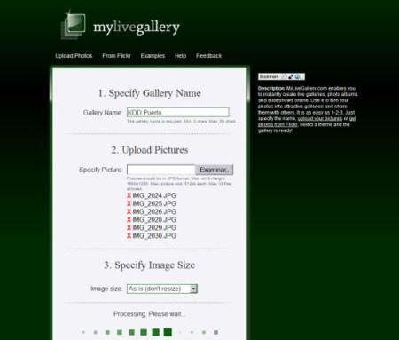 My Live Gallery, crea glalerías instantáneas en la web