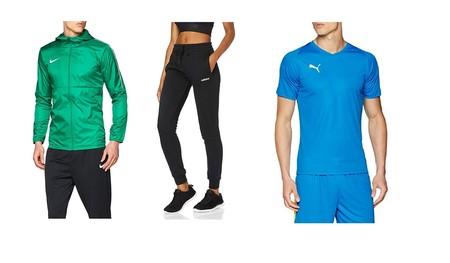 Chollos en tallas sueltas de pantalones, camisetas y chubasqueros de marcas como Adidas, Nike, Puma o Superdry en Amazon
