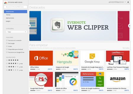 Chrome Web Store Extensiones