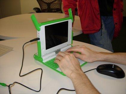 Imágenes del OLPC, de verdad