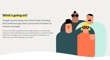 """Aptoide reclama a Google que """"juegue limpio"""": piden que deje de marcar su tienda de apps alternativa como insegura"""