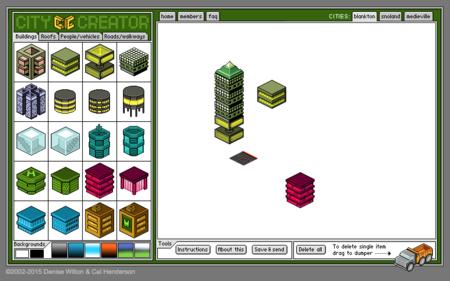 Citycreator Interfaz