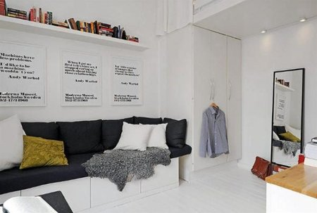 Vista del sofá de la casa