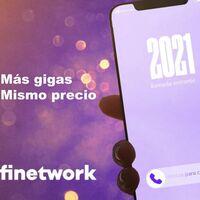 Finetwork añade gigas gratis a sus tarifas móviles contrato