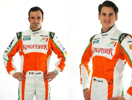 Force India confirma a Vitantonio Liuzzi y a Adrian Sutil para 2010