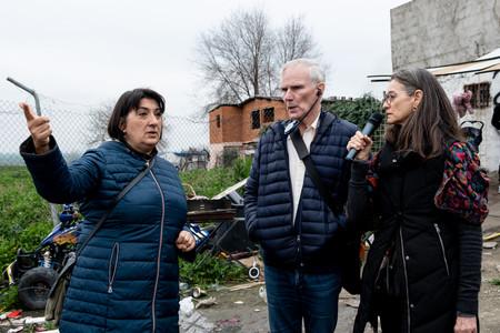 El Relator Especial visita Cañada Real, en las afueras de Madrid. © Bassam Khawaja 2020