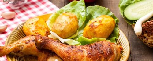 Cenas proteicas rápidas y fáciles: muslos de pavo al horno con patatas (XVII)