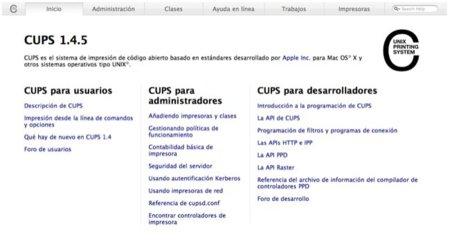Controla las impresoras de tu Mac gracias a CUPS y tu navegador