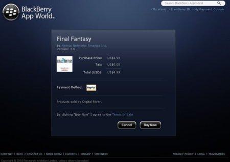 BlackBerry App World Webstore, la tienda de aplicaciones de RIM en la web