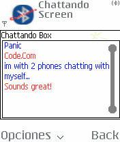 Chattando, chat mediante Bluetooth