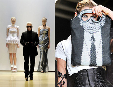 Karl Lagerfeld en la Semana de la Moda de París Primavera-Verano 2009