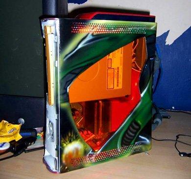 Xbox 360: carcasas modificadas