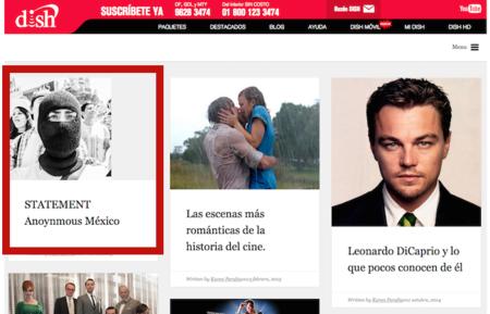Anonymous y MexicanH Team ahora van por Dish México, toman el control de su blog oficial