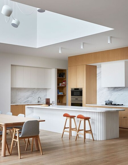 Curvas para la cocina; la nueva tendencia que hará mas fluida la circulación en la cocina