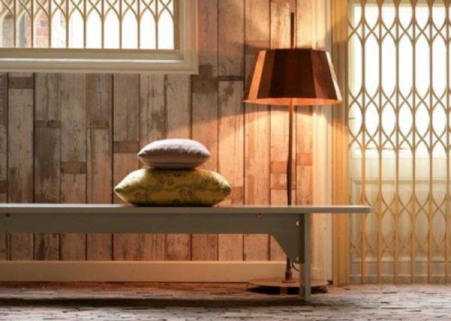 Papel pintado para imitar revestimientos de madera for Papel pintado madera