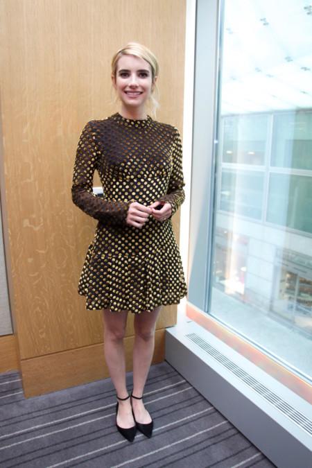 Emma Roberts Con Vestido De Lunares B