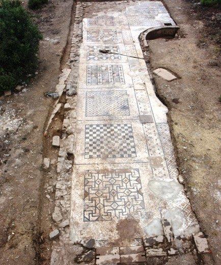 Se descubre en Turquía un mosaico romano gigante
