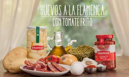 Huevos a la flamenca, otra receta para esperar a la familia por Navidad. Receta en vídeo