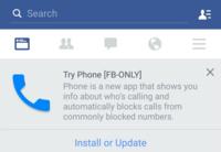 Facebook parece estar probando una nueva aplicación para realizar e identificar llamadas