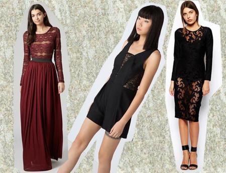 Propuestas Vestidos Encaje Navidad 2014