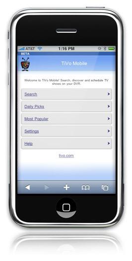 TiVo Mobile nos deja controlar el receptor de sobremesa con el móvil